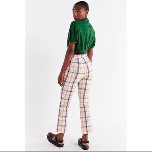 Urban Outfitters Leila Plaid Kick flare pants